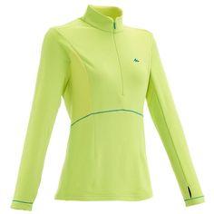 Abbigliamento escursionismo donna Montagna, Trekking - T-shirt donna FORCLAZ 500 WARM QUECHUA - Montagna donna
