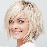 choppy a-line, cute :) I think this will be my new hair cut soon....... What do youthink???
