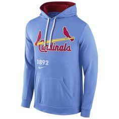 Nike St. Louis Cardinals Men's Light Blue Cooperstown Performance Pullover Hoodie #cardinals #mlb #stlouis