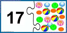"""Двойные Пазлы """"Изучаем Цифры и Счет"""".  Всего: 20 пазлов из двух половинок.  Первая картинка показывает цифру, вторая картинка показывает ко..."""