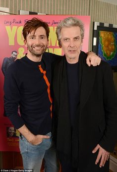 'You Me & Him' premiere. David & Peter. (Daily Mail)