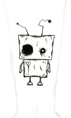 Broken-Hearted Robot Tattoo by ~BlueScissors on deviantART
