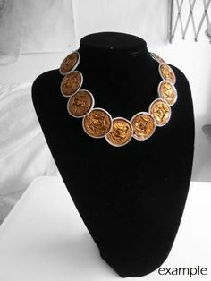 SALE  Impero Necklace Short Princess Lenght Retro by MiaNori, €10.00