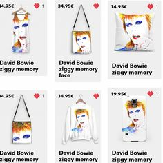 My collection dedicated to David Bowie. Discover and shop it on LIVEHEROES.COM --- Scopri la mia collezione dedicata a David Bowie su LIVEHEROES.COM  #art #arte #dress #tshirt #pillow #bathingsuit #swimwear #fashion #sweater #moda #vestito #abito #maglia #felpa #sprinsummer #sprinsummer2016 #spring2016 #summer2016 #estate2016 #primaveraestate #primavera #primavera2016 #yuliakorneva #bowie #davidbowie #rock #davidbowieforever #portrait #ritratto