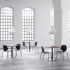 The Shape of this Pendant Lamp Design is Reminiscent of a Traditional Chandelier - Normann Copenhagen Phantom Lamp by Simon Legald Wooden Cafe, Table Cafe, Phantom, Metal Chairs, Round Corner, Clean Design, Danish Design, Contemporary Furniture, Home