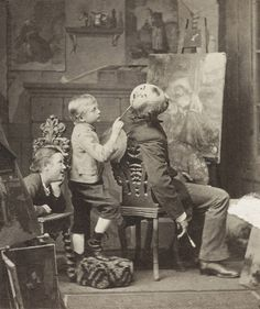 A good place to paint a face, 1877