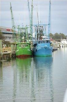 shrimp boats at Shem Creek - Mount Pleasant, SC