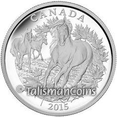 Canada 2015 Canadian Horse - Freedom of the Wild $125 1/2 Kilo Half Kilogram Pure Silver Proof GX WX - MINTAGE 1,000