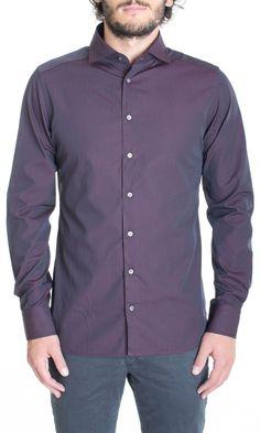 HAMAKI-HO | Camicia HAMAKI-HO Cotone Stampato Slim Fit Col. Bordeaux su Dursoboutique.com CA464H