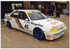 Robb Gravett Peugeot 405 Mi16 BTCC. 1993 British Touring Car Championship Silverstone.