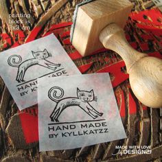 Cat: personalised rubber stamp 3x3 cm  https://www.etsy.com/shop/lida21?ref=hdr_shop_menu