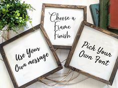 With this listing, you're in control. Chose for a wide range of customizing options for your custom wood sign. Make it special.
