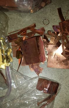 approx. 3 pounds of scrap copper and brass for jewelry making or casting