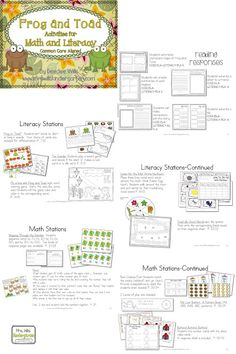 Unit, Frog & Toad Activities for Math & Literacy