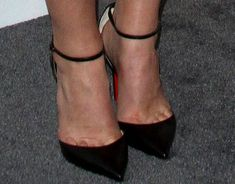 """Classic cut: Claire was all about tried and tested silhouettes in the Christian Louboutin """"Uptown"""" pumps"""