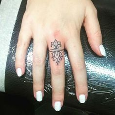 21 Cool and Trendy Tiny Tattoo Ideas: #12. STYLISH FINGER TATTOO; #tattoos