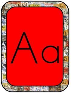 Road Trip Alphabet Letters - Print