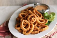 Calamari Rings with Chilli Lime Mayonnaise