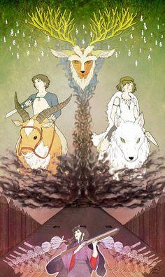 animeandgameposts:  Mononoke Hime by ~Sugar-H