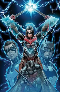 Injustice: Nightwing (Damian Wayne) by David Yardin Arte Dc Comics, Marvel Comics, Damian Wayne, Nightwing, Character Drawing, Comic Character, Comic Books Art, Comic Art, Dc Injustice