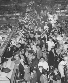 Cleveland, Ohio, West Side Market, 1946 ~~ My dad would stop here every Saturday on his way home from work and we waited anxiously at home.