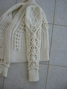 The most beautiful cable knit I've ever seen!