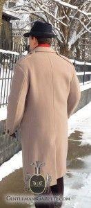 British Warm Overcoat back & epaulets