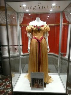 """Queen Victoria Dress #3 - Costume Exhibition from """"The Young Victoria"""" film"""
