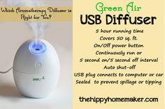 GreenAir USB Aromatherapy Diffuser - thehippyhomemaker.com