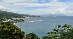 Vue sur la baie de Matavai depuis le belvédère de Tahara'a - Tahiti