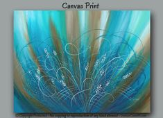 Large abstract wall art for gray, tan, taupe, teal, and turquoise home or office decor by Denise Cunniff - ArtFromDenise.com. View more info at https://www.etsy.com/listing/200941530/large-abstract-wall-art-teal-turquoise