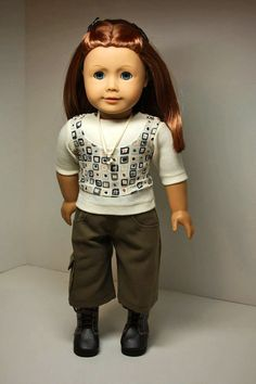 American Girl Doll CllothesSuede Cargo Capris by sewurbandesigns, $24.00