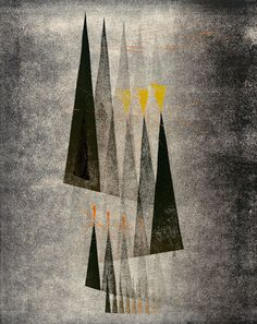 Collection Online | Harry Bertoia. Untitled. ca. 1943 - Guggenheim Museum  Untitled, ca. 1943. Monoprint, 8 × 6 1/2 inches (20.3 × 16.5 cm). Solomon R. Guggenheim Museum, New York,