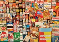 Brand throughout the history - found at the Museum of Brands in London