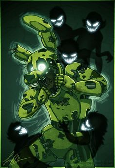 Springtrap haunted by the ghosts of children he killed.