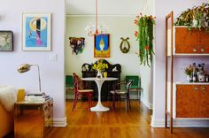 """Name: Bridget Schwartz Location: Adams Point — Oakland, California Size: 800 square feet Years lived in: Rented 7 years Bridget describes her apartment as """"luxe bohemian, fairytale discotheque, and hippie princess""""—all labels that are hard to define. But after touring Bridget's bright and eccentric Oakland apartment, the descriptions start to make sense. Her apartment has so many distinct styles, and she is perfectly fine with that."""