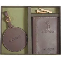 Woodbury Golf Scorecard/Round Golf Tag Set | golf | golf bag tag | pouch | emboss | imprint | brand | logo | personalization | corporate gifts | client gifts | promotional items |