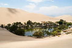 Oasis Huacachina in Ica, Peru: had the pleasure to stay a few days at the oasis, sand surf on the massive dunes & dune-buggy! One adrenaline-filled trip