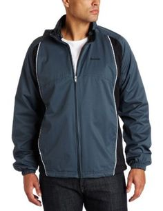 Reebok - Woven Mens Tracksuit Jacket In Paynes Grey   /Black