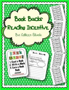 Book Bucks Reading Incentive read a book, write a blurb, earn a buck. 5 bucks earns a prize book! Middle School Libraries, Elementary School Library, Reading Workshop, Reading Logs, Reading Club, Library Lessons, Library Ideas, Reading Lessons, Read A Thon