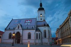 Church of St. Mark - the colored tiles on the roof represent the coat of arms of Zagreb and  of Triune Kingdom of Croatia, Slavonia and Dalmatia. (photo by: Andrey - Flickr)