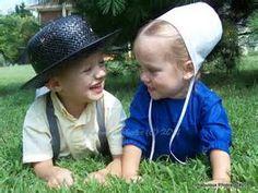 Amish Children Playing