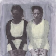 "Saatchi Art Artist: Jessica Rimondi; acrylic 2012 Drawing ""je,moi sketch"""