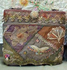 Beaded Crazy Quilt Bag