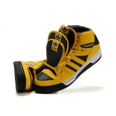 new styles 1ac22 ef78f Adidas Originals Jeremy Scott 3 Tongues Mens Shoes - Yellow Black  97