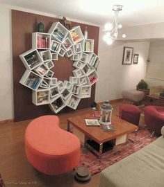 Most creative bookshelf I've ever seen.