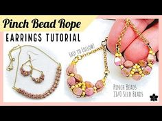✨ PINCH BEAD ROPE Beaded Earrings Tutorial ✨Jewelry Making, Seed Beads ✨Easy Beading Pattern - YouTube Wire Wrapped Earrings, Wire Wrapped Pendant, Beaded Earrings, Beaded Jewelry, Wire Jewelry, Handmade Jewelry, Easy Beading Patterns, Beading Tutorials, Necklace Tutorial