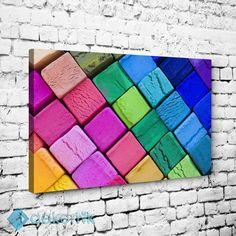 Renkli Kareler Tablo #geometrik_tablolar #geometrik_kanvas_tablolar