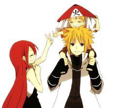 Minato Namikaze, Kushina Uzumaki y Naruto Uzumaki Naruto Minato, Anime Naruto, Manga Anime, Naruto Cute, Kakashi, Uzumaki Family, Naruto Family, Naruhina, Sasunaru