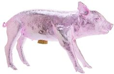 Harry Allen Piggy Bank in Light Pastel Chrome Pink $200    Hattan Home + Free Ship